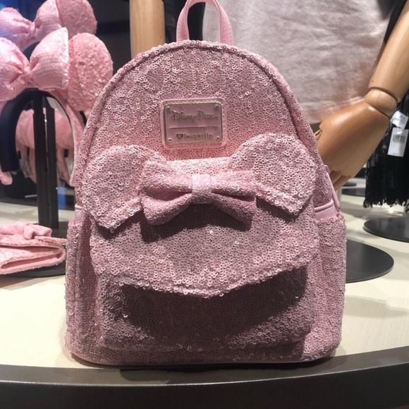 916806d6d59 Millennial Pink Mini Minnie Mouse Backpack. NWT. Disney